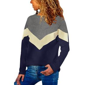 Sweater Juvenil Manga Larga Estampado Zinzag
