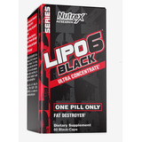 Lipo 6 Black Nutrex 60caps Termogênico Original Importado