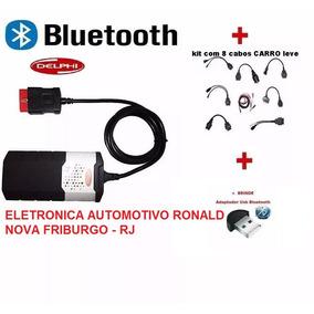Delphi Autocom Scanner Ds150e + Kit 8cabos Carro