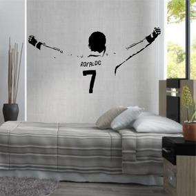 Adesivo Decorativo Futebol Cr7 Cristiano Ronaldo Braços Aber