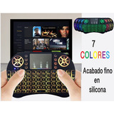 Mini Teclado Mouse Inalambrico Smart Tv Box 7 Lucesen1 Goma