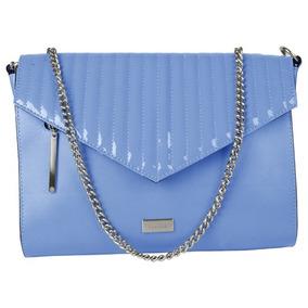 Bolsa Feminina Dumond Tiracolo Em Couro Verniz Azul Claro 48