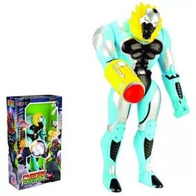 Boneco Cyborg Power Ball Com Lanca Bolinhas 39cm