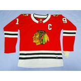 Camisa Nhl Chicago Blackhawks Jonathan Toews Vermelha b28d1b3a487