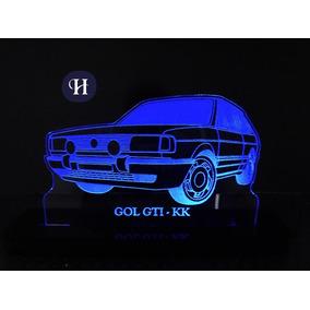 Luminária De Led Com Nome Personalizado Gol Gti Rgb 16 Cores add1a1c96d82a