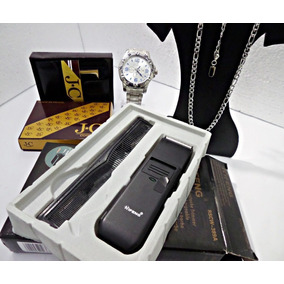 Kit 2 Relógio Masculino Carteira+correntinha+barbeado