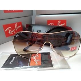 1ba54ef0004 Oculos De Sol Ray Ban 3211 Mascara Dourado Arremate - Óculos no ...