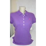 Camiseta Polo Aeropostale Cor Violeta Tam G Original 3939c0a3621