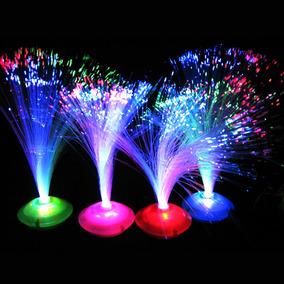 30 Centros De Mesa Luz Led Fibra Optica Arreglos Fiestas