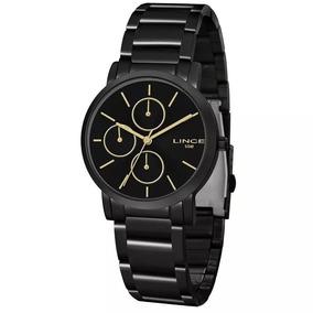 Relógio Lince Feminino Analógico Preto Lmn4568lp1px