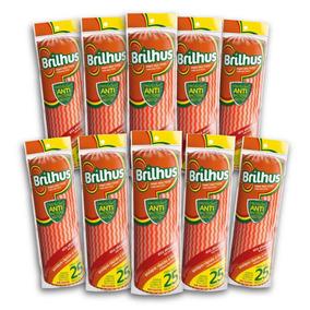 Kit Com 10 Brilhus Pano Multiuso Rolo Lr Bettanin