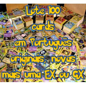 100 Cards Pokemon Novas + Gx Ou Ex Grátis Em Portugues!!!