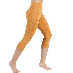 Pantalon Corto De Yoga A La Cintura Para Dama Ododos Mostaza ea8bf25cfce3