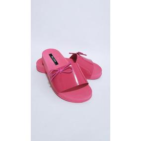 Sandálias Femininas Rasteirinhas Preta Rosa Bege Pink Slide