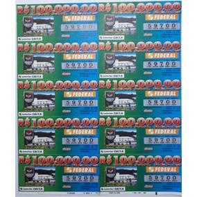 Bilhete Da Loteria Federal De 2001: 60 Anos Da Base Aérea Sp