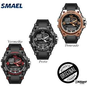 Relógio Smael 1603 Masculino Original + Cartão De Garantia