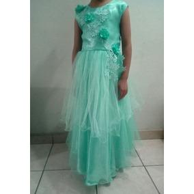 Vestidos para promocion primaria verde agua