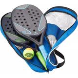 Kit 2 Raquetes E Bola Beach Tennis Praia Verão Original