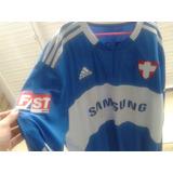Camisa Manga Longa Palmeiras adidas Usada Azul 2009/2010 G
