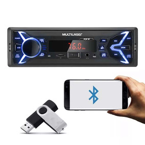 Mp3 Player 1din Usb Radio P3336p New One Fm Bluetooth Carro