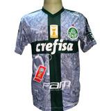 Camisa Palmeiras Branca Nova R. Goulart 2019 Deca Campeão Br
