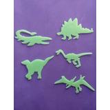 Paquete De Dinosaurios Brillan En La Obscuridad 5piezas