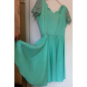 Vestido Moda Evangélica Festa Madrinha Plus Size Gg Verde
