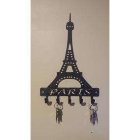 10 Unids - Porta Chaves Chaveiro Torre Eiffel Em Mdf Cru 3mm