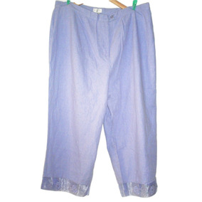 Pantalon Elastico Cintura Bordado Inc Talla 40/42 Seminuevo