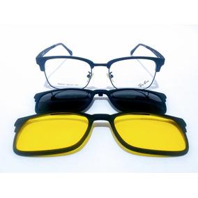 Armação De Óculos Rayban Com Clipon - Óculos no Mercado Livre Brasil 68878e74af
