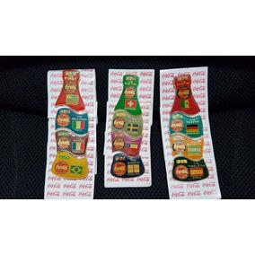 Coleção Pin Garrafa Coca Cola Copa Do Mundo 2002 Futebol