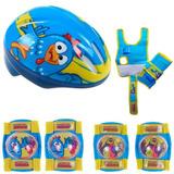 Kit De Proteção Infantil Kit De Segurança Capacete Joelheira