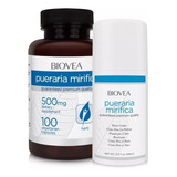 Pueraria Mirífica 500mg 100caps+creme Pueraria 99ml Biovea