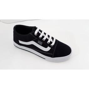 587cf54ba9a Tenis Vans Preto Com Uma Lista Branca Feminino - Calçados