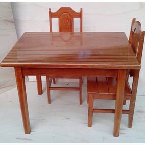 1 Mesa 2m X 80cm E 6 Cadeiras Goiás Verniz Angelim