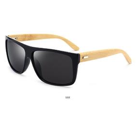 9fab836cc5d9c Óculos De Sol Reto Madeira Hastes Bambo Masculino Promoção