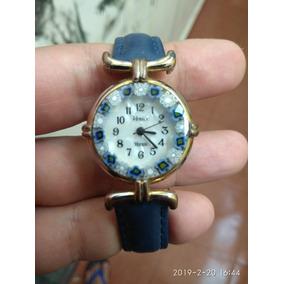 Hermoso Reloj Vintage De Cristal De Murano