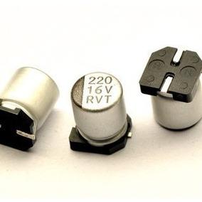 10 Capacitores Solido Alumínio Smd Varias Capacitância