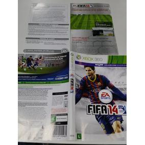 Manual E Encarte Fifa 14 Xbox 360 Original Sem Midia
