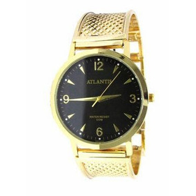 34b26f3cf07 Relogio Atlantis Dourado Original Fundo Preto - Relógios De Pulso no ...