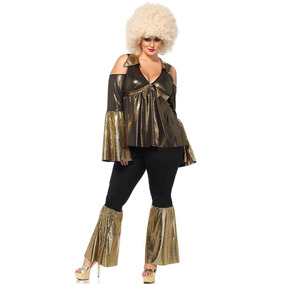 Roupa Plus Size Fantasia De Diva Disco Anos 80 De Luxo