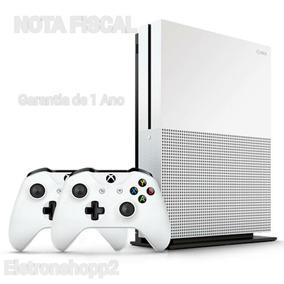 Xbox One S 1tb Slim Microsoft 4k +2 Controles + Nota Fiscal