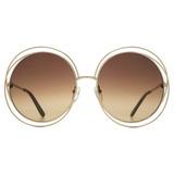Óculos Chloe Ce114s Gold Degradê Redondo Feminino cb1069a89d