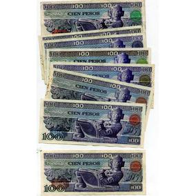 Billetes México Antiguo L 100 Pesos Azul S12