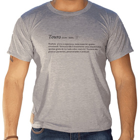 Camiseta Masculina Sandro Clothing Signo Touro Cinza