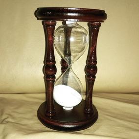 Reloj De Arena Grande 17 X 10 Cm Madera Torneada