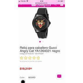 Reloj Para Caballero Gucci Angry Cat Ya1264021 Negro 062aebbdd1b