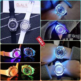 Reloj Con Luz Led De Colores