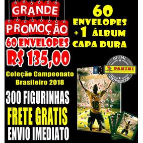Álbum Capa Dura Com 60 Envelopes Campeonato Brasileirao 2018