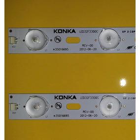 Kit 2 Barras Led32f3300c Tv Semp Dl 3254(a)w Nova